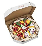 PIZZA SOCKS BOX - Pizza MIX Caprichosa Vege Pepperoni - 4 pares de CALCETINES Divertidos de ALGADON,...
