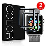 G-Color Apple Watch 42mm Protector de Pantalla, [2 Piezas], Cristal Templado, 3D Cobertura Completa,...