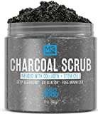 Premium Activated Charcoal Scrub 12 OZ - All Natural Pore Minimizer - Reduces Wrinkles, Blackheads &...