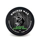 Badass Beard Care Mustache Wax For Men, 1 oz - Made with All Natural Butters and Waxes, Medium Hold,...