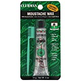 Clubman Pinaud Moustache Wax with Free Brush/Comb Applicator, Chestnut, 0.5-Ounce by Pinaud Clubman