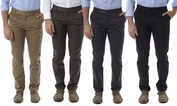 Hombres pantalones chinos business casual